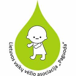 """Lietuvos vaikų vėžio asociacija """"Paguoda"""" spalvotas logotipas"""
